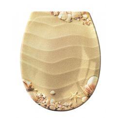 Lunette de WC Sandstrand beige 37 x 45 cm