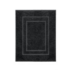 Tissu éponge Plaza noir   60 x 80 cm