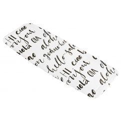 Tapis anti-dérapant Hello noir blanc 36 x 92 cm