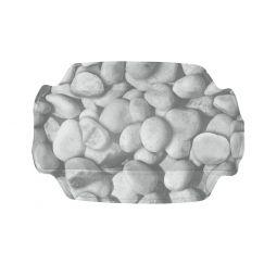 Coussin Stepstone gris 32 x 22 cm