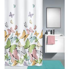 Rideau de douche Butterflies multicolor 180 x 200 cm