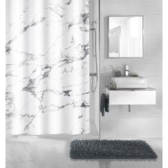 Rideau de douche Marble anthracite 180 x 200 cm