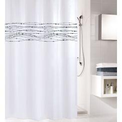 Rideau de douche Noblesse blanc 180 x 200 cm