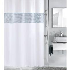 Rideau de douche Twin blanc 180 x 200 cm