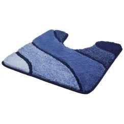 Kl. Wolke Tappeto da bagno Wave blu marino 55x 55 cm m.A.