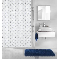 Rideau de douche Anchor bleu 180 x 200 cm