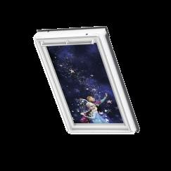 Store d'obscurcissement white line Disney Frozen Anna & Elsa 134 cm x 140 cm
