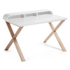 Table de travail Success blanc, bois clair
