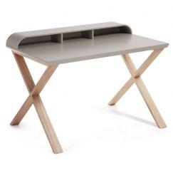 Table de travail Success gris clair, bois clair