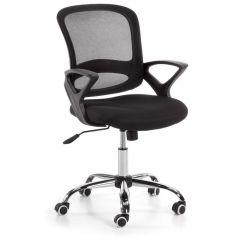 Chaise de bureau Lambert noir, chromé