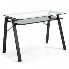 Table de travail Sauk noir, transparent