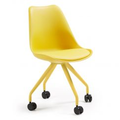 Chaise de bureau Lars jaune