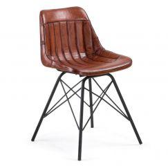 Chaise Tribu marron, noir