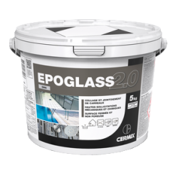 Epoglass 2.0 Gris Moyen, 5kg, Mortier epoxy pour joints avec hautes sollicitations mécaniques et chimiques, bicomposant