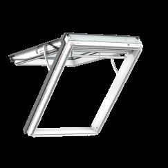 Fenêtre de toit à projection en PU 114 cm x 118 cm Polyuréthane avec noyau en bois Profilés extérieurs en aluminium Vitrage triple Thermo 2 VELUX INTEGRA® electrique automatique