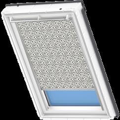 Store d'obscurcissement blanc à motifs noirs 134 cm x 140 cm VELUX INTEGRA® Solar automatique