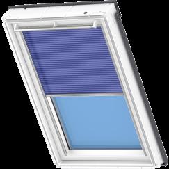 Store plissé bleu 134 cm x 140 cm VELUX INTEGRA® Solar automatique