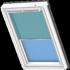 Store plissé bleu clair 134 cm x 140 cm VELUX INTEGRA® Solar automatique