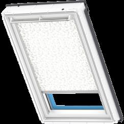 store rideau beige à motifs 134 cm x 140 cm VELUX INTEGRA® Solar automatique