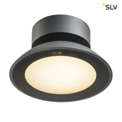 Plafonnier d'extérieur en saillie MALU CL, LED, anthracite, IP44, 3000K