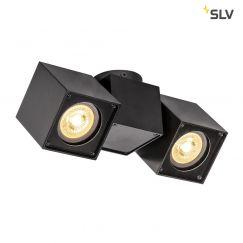 Applique et plafonnier d'intérieur en saillie ALTRA DICE CW, à deux lampes, QPAR51, noir