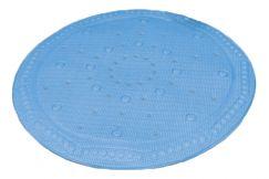 Tapis anti-dérapant Arosa bleu 55 cm rond