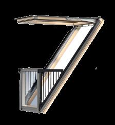 GDL Cabrio, bois de pin verni transparent en aluminium    Vitrage triple Thermo 2