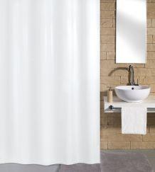 Rideau de douche Kito blanc 120 x 200 cm