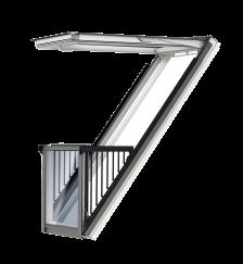 GDL Cabrio, bois de pin peint en blanc en aluminium    Vitrage triple Thermo 2