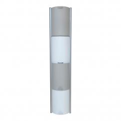 Showerbox, 4 éléments coulissants, 070 argent mat, H 1130 mm