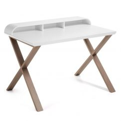 Table de travail Success blanc, bois gris