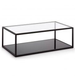 Table basse Greenhill noir, transparent
