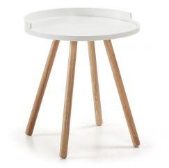 Table basse Bruk wood blanc, bois clair