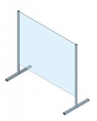 Protection en verre de sécurité trempé (ESG) et aluminium PRO-CV 1 800 x 770 mm