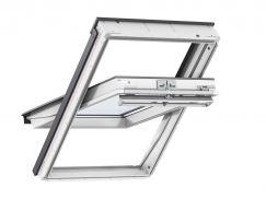 Fenêtre de toit à rotation en PU 78 cm x 140 cm Polyuréthane avec noyau en bois Profilés extérieurs en aluminium Vitrage triple Thermo 2