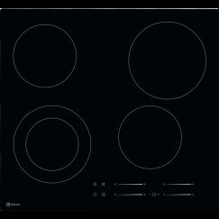 Electrolux GK56TSO, Vitrocéramique, Noir
