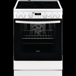 Zanussi ZCV65021W2, Cuisinière électrique indèpendante, Blanc