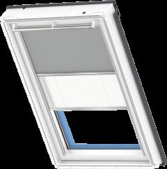 Store d'obscurcissement duo gris Store plissé blanc 55 cm x 78 cm