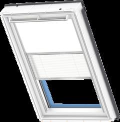 Store d'obscurcissement duo blanc Store plissé blanc 55 cm x 78 cm