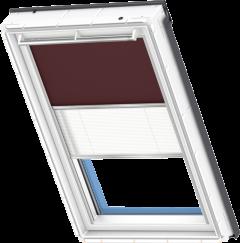 Store d'obscurcissement duo brun foncé Store plissé blanc 55 cm x 78 cm
