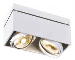 KARDAMOD CARRE DOUBLE QPAR111 plafonnier, blanc, GU10, max. 2x75W