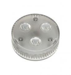 Source LED GX53, 3x1,4W, LED blanc chaud, angle de rayonnement 35°