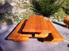Table extérieure robuste 250 cm imprégnée