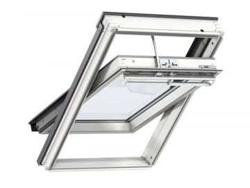 Fenêtre De Toit à Rotation En Bois 55 Cm X 118 Cm Bois De Pin Peint