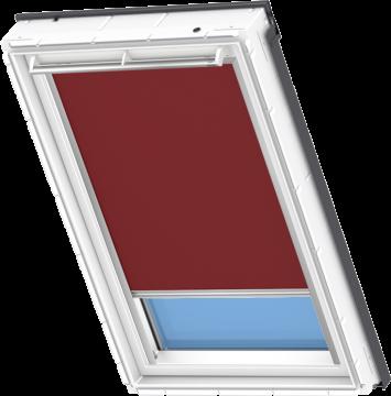 Tenda Oscurante Rossa Scura 55 Cm X 118 Cm Velux Integra Elettrica Automatica