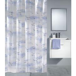 Rideau de douche Sky bleu 180 x 200 cm