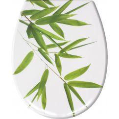Lunette de WC Bamboo vert 37 x 45 cm