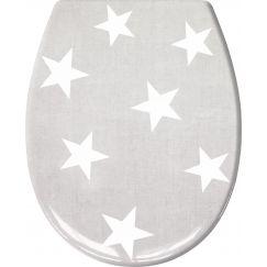 Lunette de WC Nova platine 37 x 45 cm
