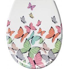 Lunette de WC Butterflies multicolor 37 x 45 cm