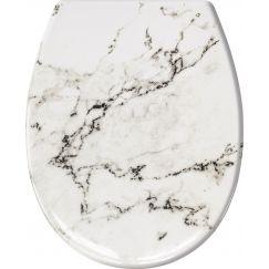 Lunette de WC Marble anthracite 37 x 45 cm